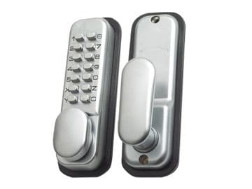 P-DL02-SC Push Button Door Lock Chrome Finish Hold Open Function
